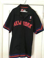 New York Knicks Nike NBA Warm Up Shirt Snap on Jersey Jacket Size LARGE stitched
