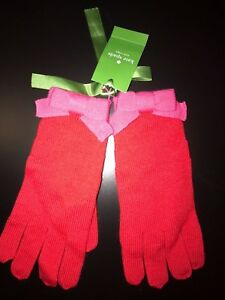Kate Spade New York Women's Winter Bow Belle Gloves Red/Pink (601) One Size New