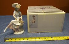 """Imperfect Lladro #7612 """" Picture Perfect """" Lady & Puppy-Retired w/ Original Box"""