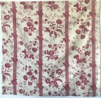 Antique Rare Beautiful 18th cent. French Floral Toile Printed Fabric (3027)