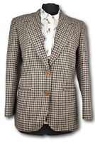 Ladies Tweed Country Blazer Jacket - ITALIAN TAILORED WOOL -UK 10 Petite #987