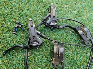 SHIMANO SLX M665 Front & Rear Hydraulic Disc Brake Set Very Good Condition!