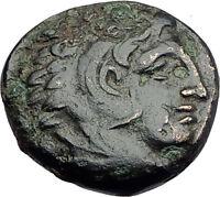 ALEXANDER III the Great 325BC Macedonia Ancient Greek Coin HERCULES CLUB i62741