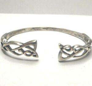 Ireland Designer Sterling Silver Scrolled Open Cuff Bracelet