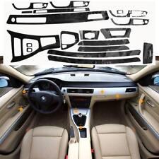 5D Interior Brillante Fibra de Carbono Envoltura Trim Vinilo para BMW Serie 3