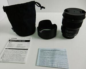 Sigma 50mm F1.4 DG HSM - Objektiv + Gegenlichtblende für Nikon - Top Zustand !