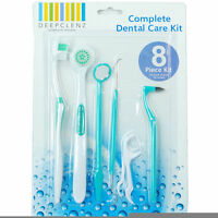 8 Pcs Stainless Steel Dental Tool Set Dentist Teeth Kit Clean Hygiene Pick Probe