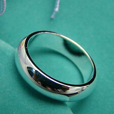 Cool 925Sterling Silver Smooth Face Round Circle Men Women Ring #7 #8 #9 R4025
