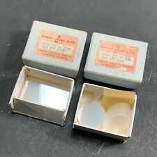 VINTAGE RAMSAY SURGICAL 18mm CIRCLE & 22mm x 32mm MICROSCOPE COVER GLASS SLIPS