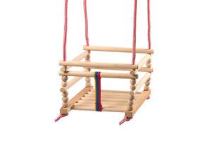 Babyschaukel Kinderschaukel Gitterschaukel Holzgitterschaukel Holz Natur