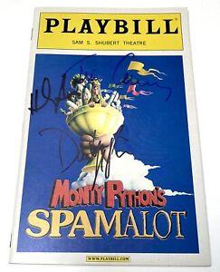 Monty Python's Spamalot Signed Playbill Tim Curry, David Hyde Pierce, H. Azaria