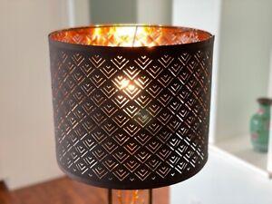 Ikea NYMÖ Medium (Floor, Hanging or Table) Lamp Shade Perforated Black / Brass