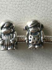 pandora silver boy and girl charms