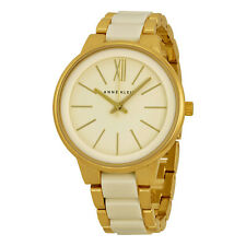 Anne Klein Off White Dial Gold-tone and Off White Resin Ladies Watch 1412IVGB
