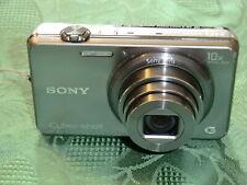 Sony Cyber-shot DSC-WX150 18.2MP Digital Camera, Silver, 10x zoom, boxed, case