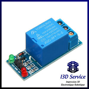 Module relais 1 canal 5V ou 12V / 220V 10A - Idéal arduino, raspberry, domotique