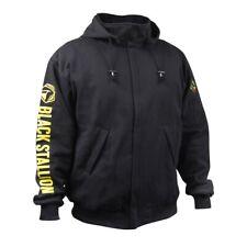 Revco Black Stallion 9oz Black Full-Zip FR Hooded Sweatshirt (Med) (JF1331-BK)