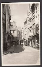 Postcard Guernsey Channel Islands view of shops in The Pollet RP by Norman Grut