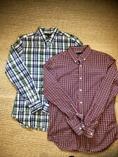 Banana Republic Lot Of 2 Mens Soft Wash Button Up Down Size Medium EUC
