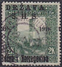 55.Yugoslavia SHS Bosnia 1918 definitive ERROR moved overprint USED m13