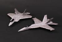 F18 & X22 Jet Shape Twin Pack Free Flight Chuck Gliders Tough Model Aeroplane