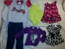 Lot of 7 girl Toddler 2T 24 Mos Carter's George Baby Togs Atlanta Braves EUC