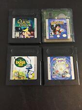 4 Game Boy Color Lot- Quest For Camelot, Harry Potter, A Bug's Life, Rugrats