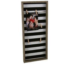 Holz Fotorahmen mit Leine - 6 Holz Klammern - Bilderrahmen Foto Halter Galerie