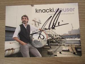 Knacki Deuser original handsignierte Autogrammkarte / nightwash T27