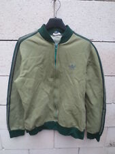 Veste ADIDAS vintage 70's Trefoil jacket Ventex tracktop jacke vert kaki rare S