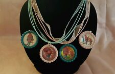Trolls Poppy - DJ Suki 6 Piece Interchangeable Pink & Blue Necklace Jewelry Set