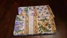 April Cornell Floral Pair of Pillowcases Blue Green Yellow Gold India 17.5x25.5