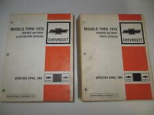 Chevrolet Models Thru 1975 Chevelle Camaro Nova Vega GM  Parts & Illustrations
