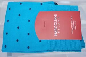 New Marcoliani Milano Men's Socks Polka Dot Blue Cotton