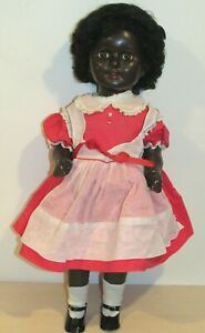 "HTF 1940s Beautiful Black African American 23"" Doll  All Composition w/Teeth"