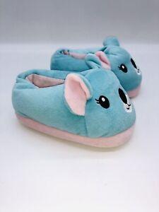 dELiA*s Toddler Girls Blue Koala Slip On Slipper - L (US 8)        #B-66