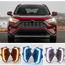 Fit For 2019 Toyota RAV4 LED DRL daytime running light turn signal lamp 2PCS