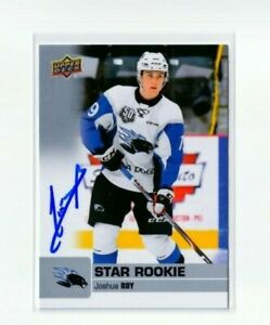 JOSHUA ROY autographed SIGNED '19/20 Upper Deck CHL card MONTREAL CANADIENS