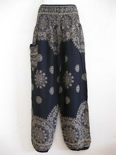 Ladies Harem Pants Bohemian Aladdin Genie Boho Hippy Baggy Yoga Trousers HTF