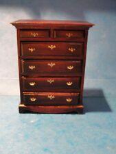 Dollhouse seven drawer wooden dresser chest  1:12th