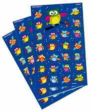 3 Sheets Small Colorful OWL 75 Scrapbook Stickers!