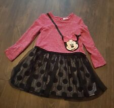 Minnie Mouse Vestito Età 1.5-2 anni Luccicante Rosa e Nero Abito MINNIE PARTY GIRL