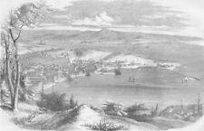 ITALY. Trieste, antique print, 1859