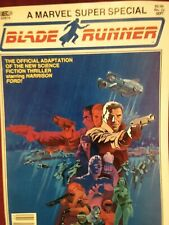Blade runner. marvel super speceal. adaption 1982. mmarvel comics