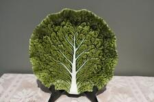 Vintage Serving Plate - Portugal - Hand painted - Cabbage Leaf - Reas Cond
