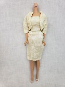 VTG Barbie Premier Clone Homemade Hong Kong Cream Evening Dress Jacket