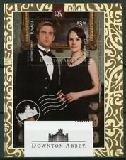 Tuvalu 2014 MNH Downton Abbey Matthew Lady Mary Crawley 1v S/S TV Series Stamps