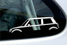 2x car silhouette stickers - for BMW Mini Cooper hardtop (R50)