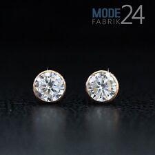 Paar Ohrringe Ohrstecker Kelch Echt 925er Sterling Silber Rose Gold 5,5 Zirkonia
