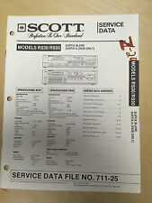 Scott Service Manual for the RS30 RS50 Receiver      Original   mp